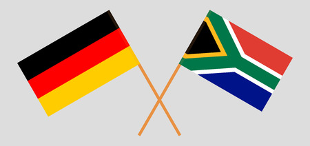 RSA and Germany. The South African and German flags. Official colors. Correct proportion. Vector illustration