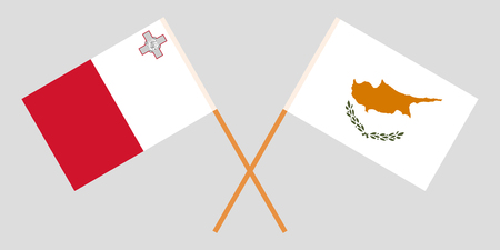 The Maltese and Cyprian flags