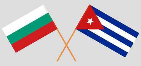 Cuba and Bulgaria. The Cuban and Bulgarian flags. Official colors. Correct proportion. Vector illustration
