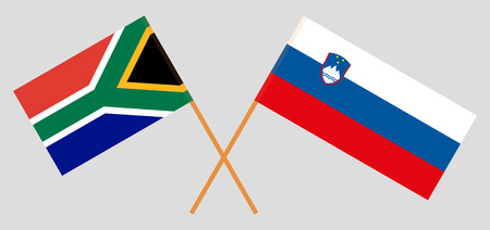 Slovenia and RSA. The Slovenian and South African flags. Official colors. Correct proportion. Vector illustration