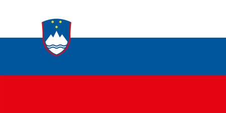 Slovenia flag. Official colors. Correct proportion. Vecto
