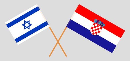 Croatia and Israel. The Croatian and Israeli flags. Official colors. Correct proportion. Vector illustration Imagens - 126174887