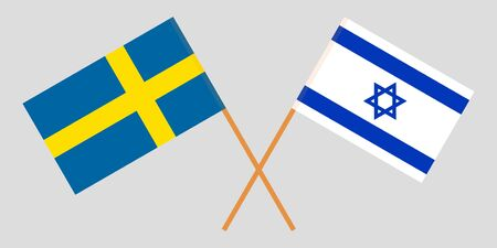 Sweden and Israel. The Swedish and Israeli flags. Official colors. Correct proportion. Vector illustration Imagens - 126176083