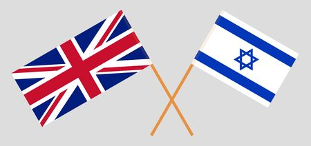 The UK and Israel. British and Israeli flags. Official colors. Correct proportion. Vector illustration Imagens - 126176073