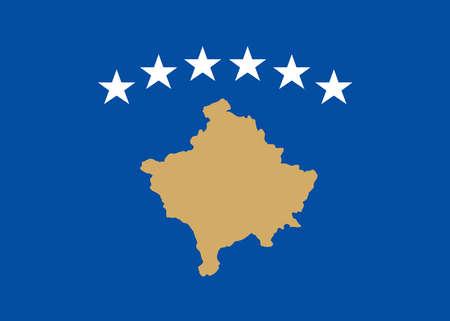 Flag of Republic of Kosovo 矢量图像