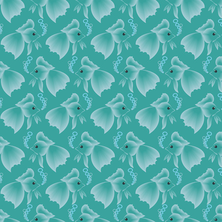 bushy: Endless pattern of small fish with a bushy tails