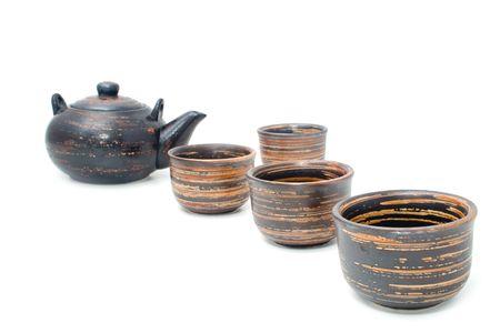 teaset: wonderful tea-set on a white background Stock Photo