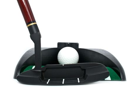 all for playing golf in an office on a white background photo