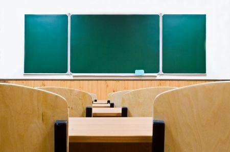 school board empty class in the evening