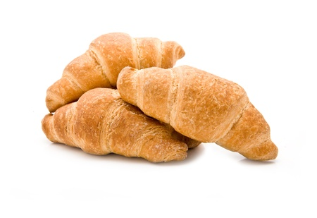 croissants on a white background  Stock Photo