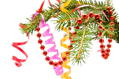 christmas decorations on a white background Stock Photo - 13858130