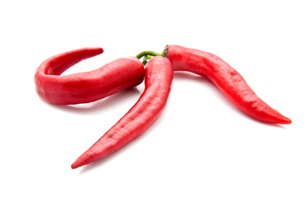 hottest: pepper on a white background