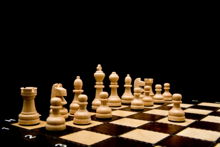 chess on a black background Stock Photo - 13857711