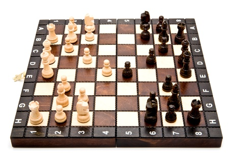 chess on a white background  photo