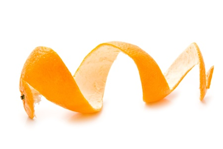 rinds: orange on a white background