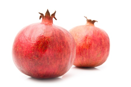 pomegranate on a white background photo
