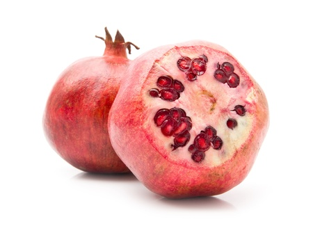 pomegranates on a white background photo