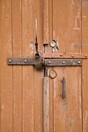 old door with a lock photo