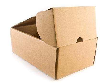 box on a white background photo