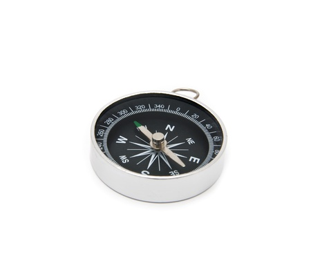 azimuth: compass on a white background Stock Photo
