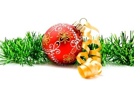christma: christma ball on a white background