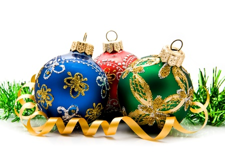 christmas balls on a white background Stock Photo - 15402831