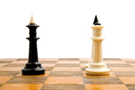 chellange: chess figures on a white background Stock Photo