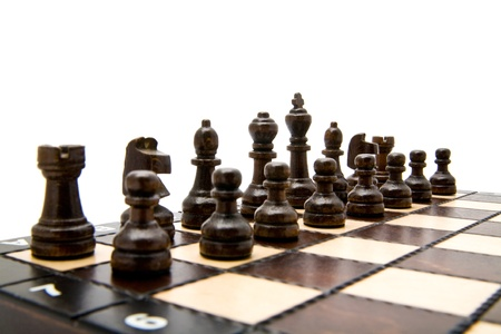 chellange: chess on a white background  Stock Photo