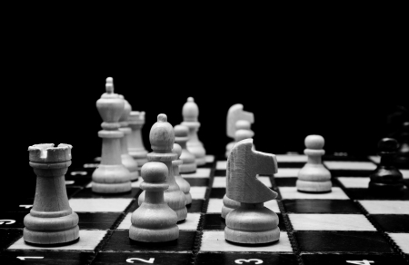 chess on a black background photo