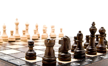 chellange: chess on a white background