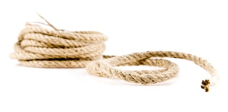 rope on a white background Stock Photo - 15630303