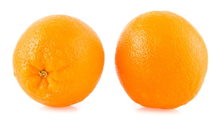 oranges on a white background photo