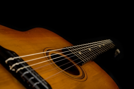 guitar on a black background  photo