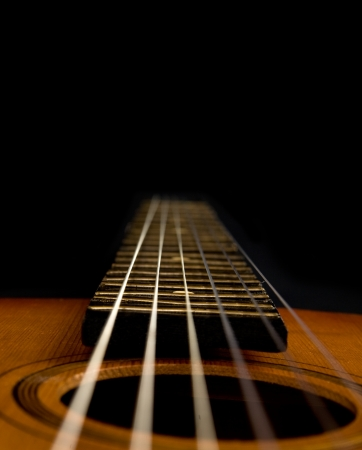 guitar on a black background