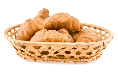 pastrie: croissant on a white background