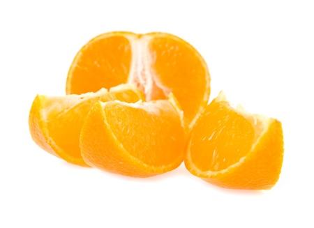 mandarine on a white background  Stock Photo - 15635765