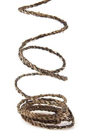 rope on a white background Stock Photo - 15698511