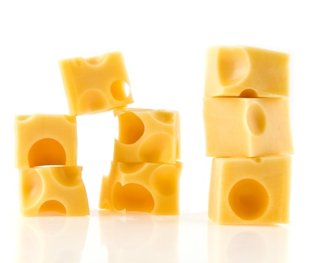 chees: cheese on a white background