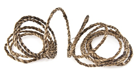 rope on a white background Stock Photo - 15709282