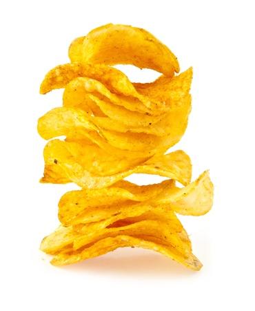 nosh: chips on a white background