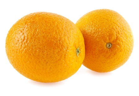 orange on a white background photo