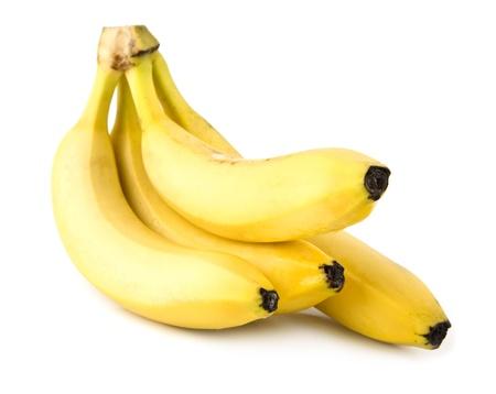 bananas on a white background Banco de Imagens