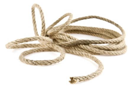 rope on a white background Stock Photo - 15746442