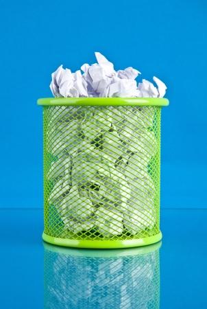 basket on a blue background photo