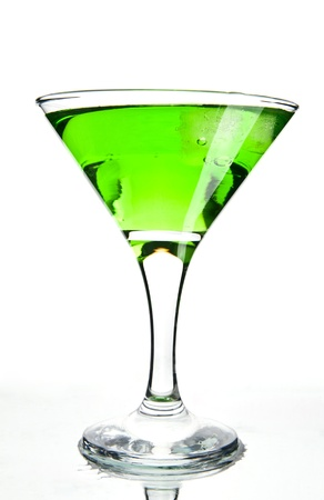 martini on a white background photo