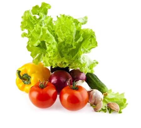 vegetables on a white background  photo