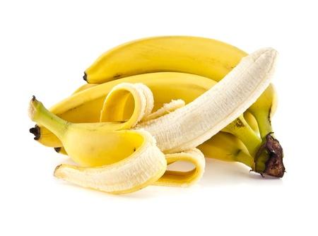 banana tree: bananas on a white background Stock Photo