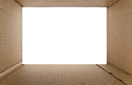 cardboard box on a white background photo