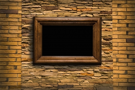 old wall with a scope for pictures Stock Photo - 15746861