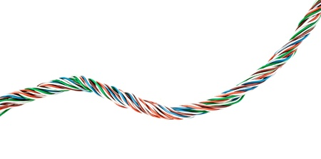 wires on a white background Stock Photo - 16472941